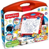 费雪fisher-price 益智玩具 趣味多功能手提画架 手绘画笔 儿童早教手工创意玩具套装FPC016