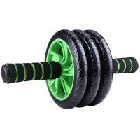 凯速KANSOON三轮健腹轮腹肌轮家用运动健身器材静音收腹轮滚轮绿色王中王
