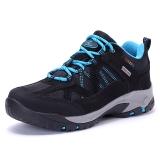 TFO 登山鞋 运动徒步低帮透气舒适高弹减震登山鞋844543 女款黑色/水蓝色  35
