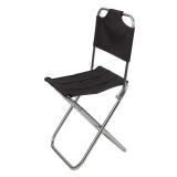 红色营地 户外折叠椅子 便携式钓鱼椅 铝合金椅子 带靠背款