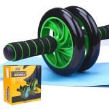 凯速静音型双轮健腹器 腹肌轮健腹轮滚轮KA05 绿色(含膝盖垫)
