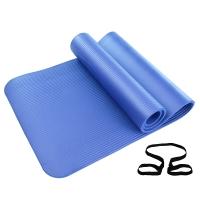 凯速NBR环保 185*80cm加长加宽防滑防潮健身瑜伽垫 10MM 蓝色 EA07