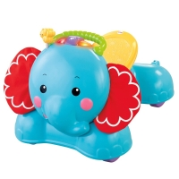费雪(Fisher Price )益智玩具 早教拖拉 3合1飞天小象学步车 BFH56