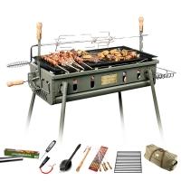 烧烤世家(e-Rover) 烧烤炉 世家威戈 户外便携大号加厚烤肉架子 专业木炭家用烧烤炉 8件套