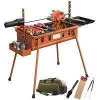 燒烤世家(e-Rover) 燒烤爐 威戈mini戶外便攜燒烤架 家用燒烤用品燒烤爐(烈焰鐵砂紅)