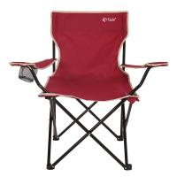 红色营地 折叠椅 钓鱼椅子 沙滩休闲椅 简约靠背椅 户外扶手椅子 Y100酒红