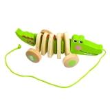 费雪(Fisher Price)木制拖拉玩具 鳄鱼 学步爬行FP1008