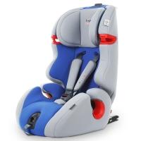 kiwy原装进口宝宝汽车儿童安全座椅isofix硬接口9个月-12岁 可拆增高垫 凯威一号 道奇蓝