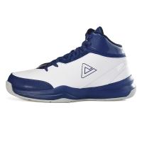 匹克(PEAK)篮球鞋运动鞋 男款减震耐磨防滑经典战靴DA054611大白/深海兰41