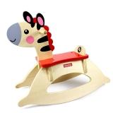 费雪(Fisher Price)摇摇斑马 小木马摇椅两用 FP5003