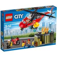 乐高(LEGO)积木 城市组系列City消防直升机组合5-12岁 60108 儿童玩具 男孩女孩生日礼物