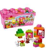 乐高 得宝系列 1.5岁-5岁 多合一粉红趣味桶 10571 益智 儿童 积木 玩具LEGO