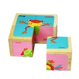 费雪 Fisher Price 益智早教玩具 木质环保六面画-青蛙FP1001B
