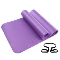 凯速NBR环保 185*80cm加长加宽防滑防潮健身瑜伽垫 10MM 紫色 EA07