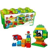 乐高(LEGO)积木 得宝DUPLO多合一趣味桶1.5-5岁 10572 早教益智玩具 男孩女孩生日礼物 大颗粒