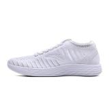 安踏(ANTA)男鞋 91725550 时尚飞织帮面休闲跑步鞋 潮流透气运动袜套鞋 安踏白/浅灰-5 7(男40)
