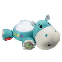 费雪(Fisher Price) 新生儿安抚玩具 小河马投影安抚器 CGN86