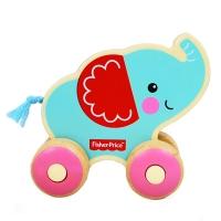 费雪 Fisher Price 益智早教玩具 小小动物推车-小小象FP1005