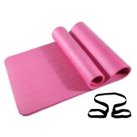 凯速NBR环保 185*80cm加长加宽防滑防潮健身瑜伽垫 10MM 桃红色 EA07