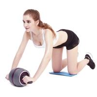 凯速KANSOON健身器材自动回弹健腹轮美版宽轮健腹器桶形腹肌轮健腹滚轮CP27灰紫色