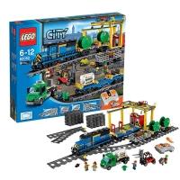乐高 玩具 城市组 City 6岁-12岁 货运列车 60052 积木LEGO