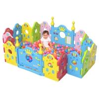 棒棒猪(BabyBBZ)儿童安全围栏宝宝游戏围栏婴儿学步栅栏爬行安全防护栏 开心城堡(16+2)