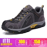 TFO  登山鞋 户外高弹减震透气舒适低帮牛皮登山鞋842728 男款碳灰色 41
