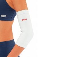 D&M 日本远红外保暖护肘男高弹力中老年人护手肘护具原装进口 5700白L(26-32cm)一只装
