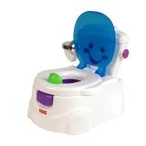 费雪 Fisher-Price 早教启智玩具  宝宝嘘嘘好伙伴 婴儿马桶坐便器尿盆带音乐V2728