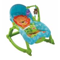 费雪 益智玩具 新生儿宝宝婴幼儿可爱动物多功能轻便摇椅睡觉椅W2811