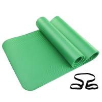 凯速NBR环保 185*80cm加长加宽防滑防潮健身瑜伽垫 10MM 绿色 EA07