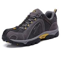 TFO  登山鞋 戶外高彈減震透氣舒適低幫牛皮登山鞋842728 男款碳灰色 40