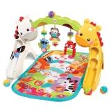 费雪(Fisher Price)新生儿益智玩具早教大动作发育 欢乐动物音乐健身器 CCB70