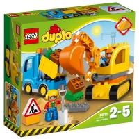 乐高 得宝系列 2岁-5岁 卡车和挖掘车套装 10812 益智 儿童 积木 玩具LEGO