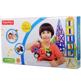 费雪(Fisher Price)玩具 磁力构建片 百变提拉拼插模型积木磁性玩具 52片交通套组2011