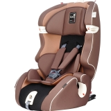 Kiwy原装进口汽车儿童安全座椅 无敌浩克 isofix硬接口 9个月-12岁宝宝车载座椅 摩卡棕
