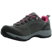埃尔蒙特 ALPINT MOUNTAIN户外男女登山鞋徒步鞋运动鞋耐磨防滑户外鞋真皮透气工装鞋子 640-817 灰色 39