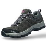 埃尔蒙特 户外男女登山鞋 徒步鞋 运动鞋 耐磨防滑户外鞋 真皮透气 工装鞋子 630-828 女款 深灰 36