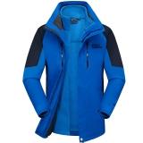 埃尔蒙特 ALPINT MOUNTAIN 冲锋衣 男女款情侣三合一户外服装防风衣保暖衣防寒两件套 640-622 宝蓝 XL