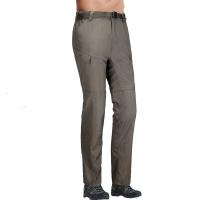 ALPINT MOUNTAIN 户外速干裤 两截可拆卸速干衣裤套装女款 快干登山长裤 620-201 男款军绿XXL