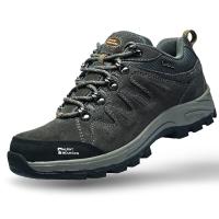 埃尔蒙特 户外男女登山鞋 徒步鞋 运动鞋 耐磨防滑户外鞋 真皮透气 工装鞋子 630-827 男款 深灰 39