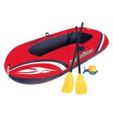 Bestway二人加厚皮划艇橡皮艇充气船气垫船(含船桨、充气泵)61062