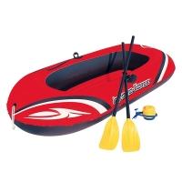 Bestway二人加厚皮劃艇橡皮艇充氣船氣墊船(含船槳、充氣泵)61062