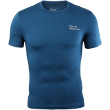 埃尔蒙特 ALPINT MOUNTAIN 男运动户外紧身衣 健身快干弹力短袖T恤 650-506 孔雀蓝 M