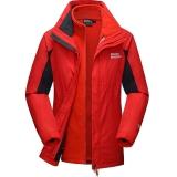 埃尔蒙特 ALPINT MOUNTAIN 冲锋衣 男女情侣款秋冬三合一冲锋衣抓绒保暖两件套 630-619 红色 L