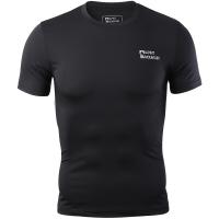 埃尔蒙特 ALPINT MOUNTAIN 男运动户外紧身衣 健身快干弹力短袖T恤 650-506 黑色 XXXL