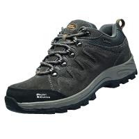 埃爾蒙特 戶外男女登山鞋 徒步鞋 運動鞋 耐磨防滑戶外鞋 真皮透氣 工裝鞋子 630-827 男款 深灰 41