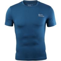 埃尔蒙特 ALPINT MOUNTAIN 男运动户外紧身衣 健身快干弹力短袖T恤 650-506 孔雀蓝 XXXL