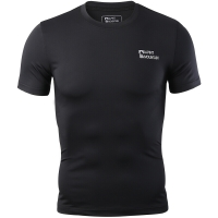 埃尔蒙特 ALPINT MOUNTAIN 男运动户外紧身衣 健身快干弹力短袖T恤 650-506 黑色 XXL