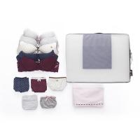 必优美 BUBM 收纳包 旅行折叠收纳袋 大容量衣服分装袋 旅行箱包 旅行收纳袋套装双层大号 TLG蓝色
